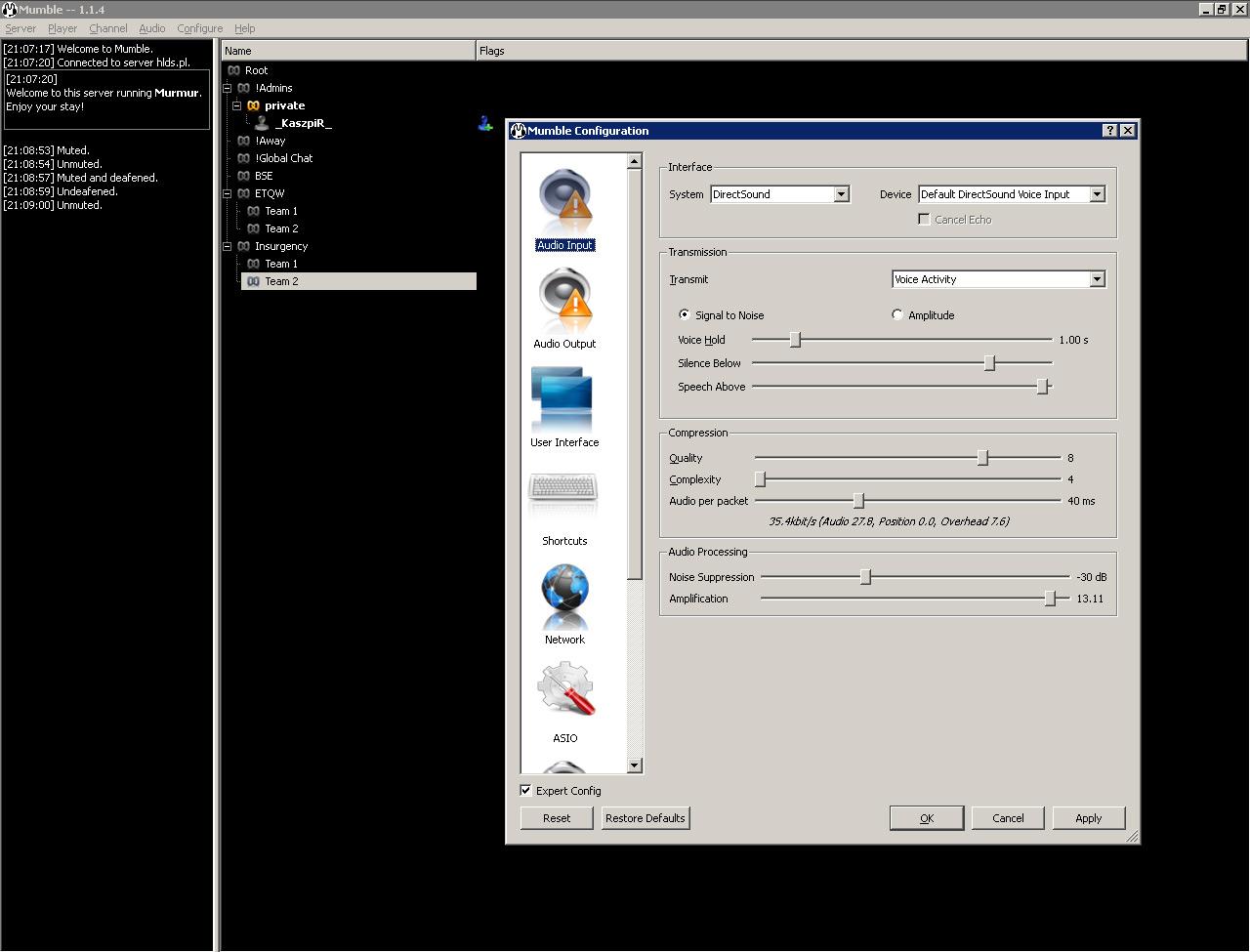 Настройка Mumble и подключение к серверу - Официальный сайт EasyCoding Team
